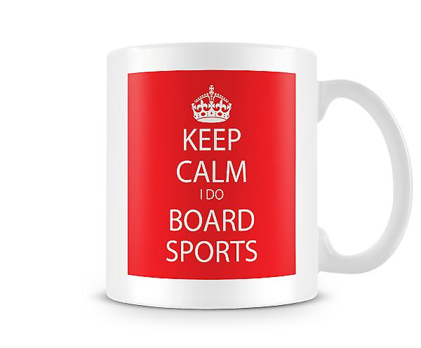 Keep Calm a bordo sport tazza stampata