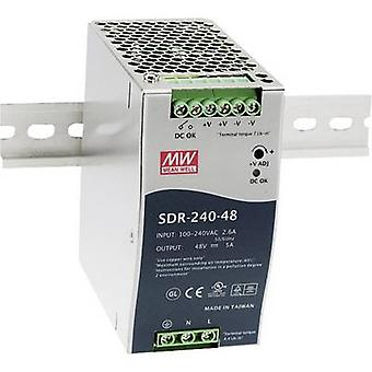 Mean Well SDR-240-24 Rail mounted PSU (DIN) 24 Vdc 10 A 240 W 1 x