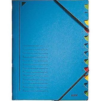 Leitz Ordnungsmappen 12 Fõcher blau 3912