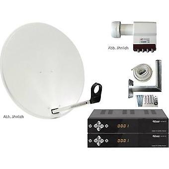 AllVision SAH-S 4000/80 HD-SAT-Anlage + Empfänger Anzahl Teilnehmer 4 80 cm