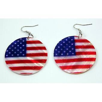 Union Jack Wear USA Shell Earrings
