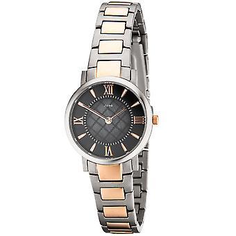 JOBO дамы наручные часы кварцевые аналоговые титана биколор Мужские Часы