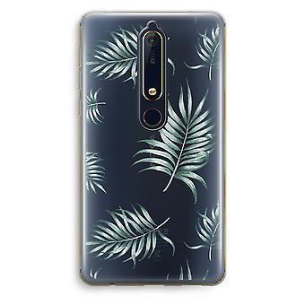 Nokia 6 (2018) Transparent Case (Soft) - Simple leaves