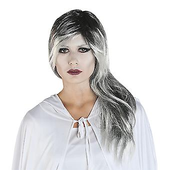 MIM sølv-dame paryk ghost ghost tilbehør Carnival Halloween