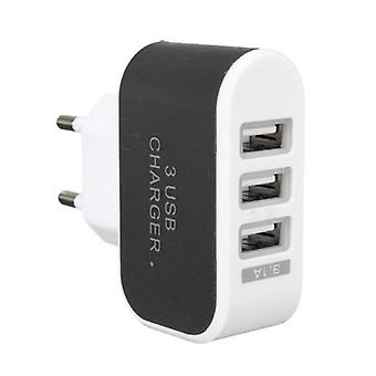 Stuff Certified ® 10-Pack Triple (3x) USB Port iPhone / Android Wall Charger Home Wall Charger AC Black