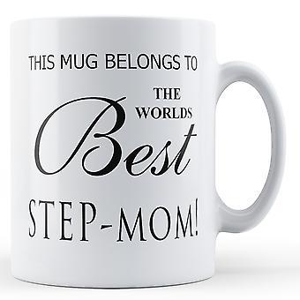 Ce Mug appartient au mondes meilleurs belle-mère imprimé Mug