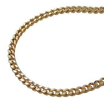 Curb chain 60cm gold plated