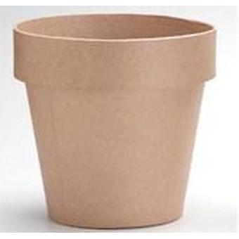 100mm Paper Mache Flower Pot to Decorate | Papier Mache Shapes