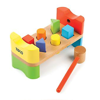 Tidlo Wooden Educational My First Hammer Bench Play Set
