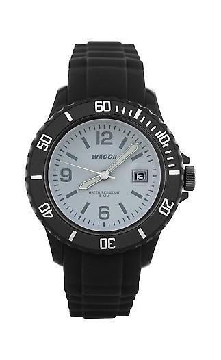 Waooh - Watches - Waooh Monaco Black Ice 34 Color Dial