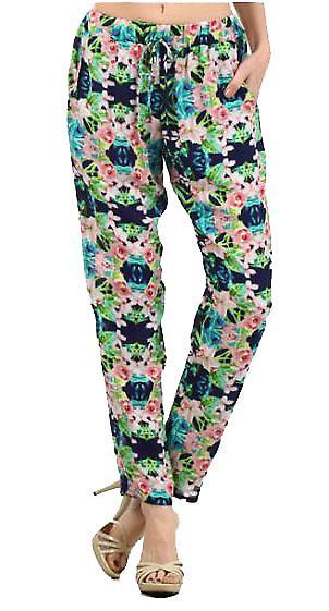 Waooh - Fashion - Floral Print Pants Carrot