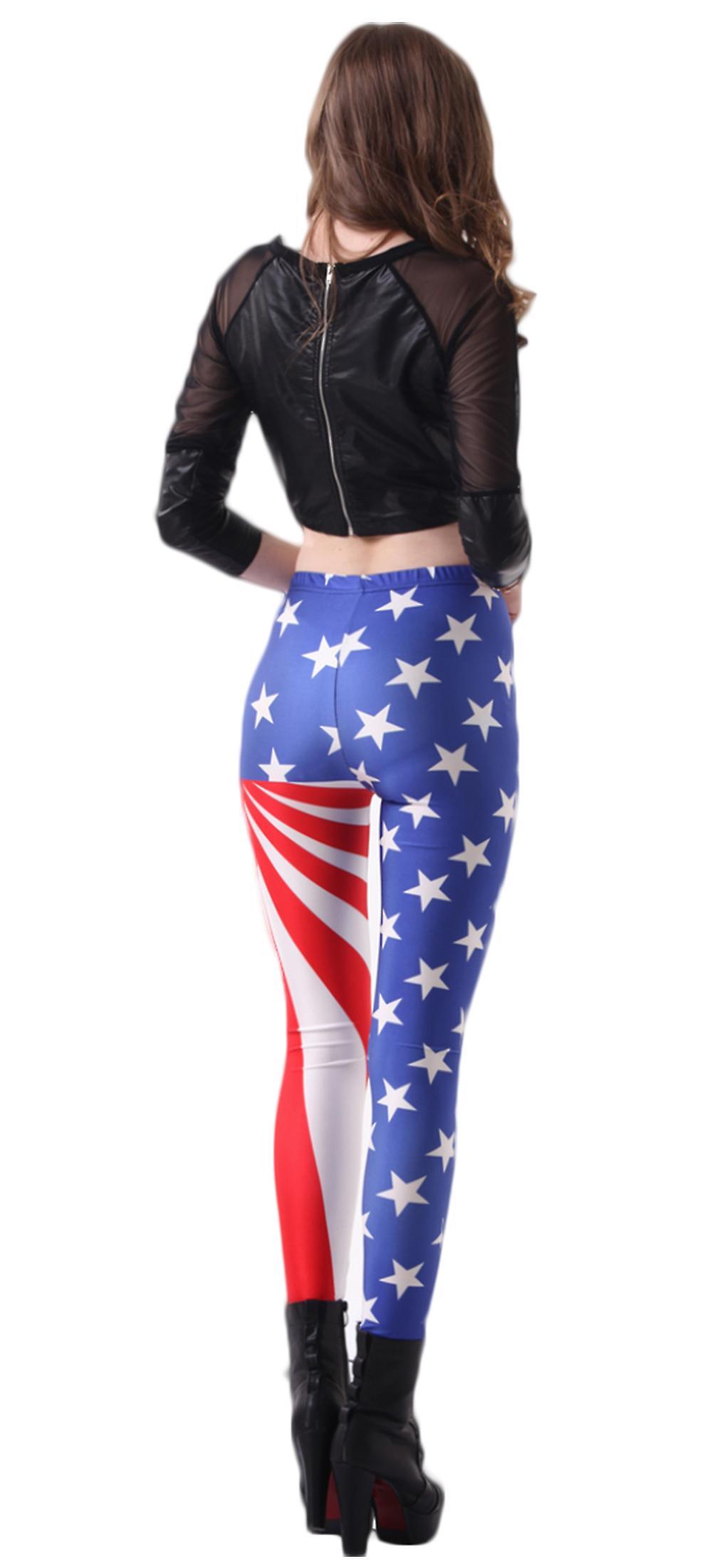 Waooh - Leggings tryckt amerikanska flaggan Ifru