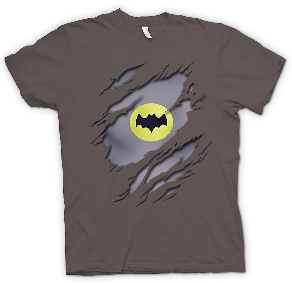 Womens T-shirt - Batman Under Shirt Effect - Movie Superhero