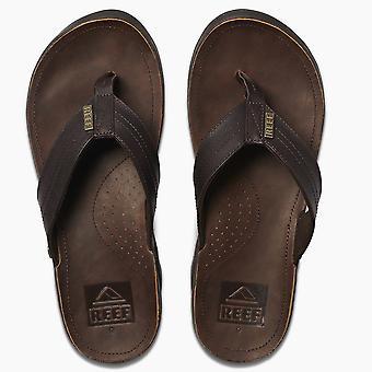 Sandales en cuir imperméable à l'eau de Mens de récif ~ J-Bay III bronze/marron