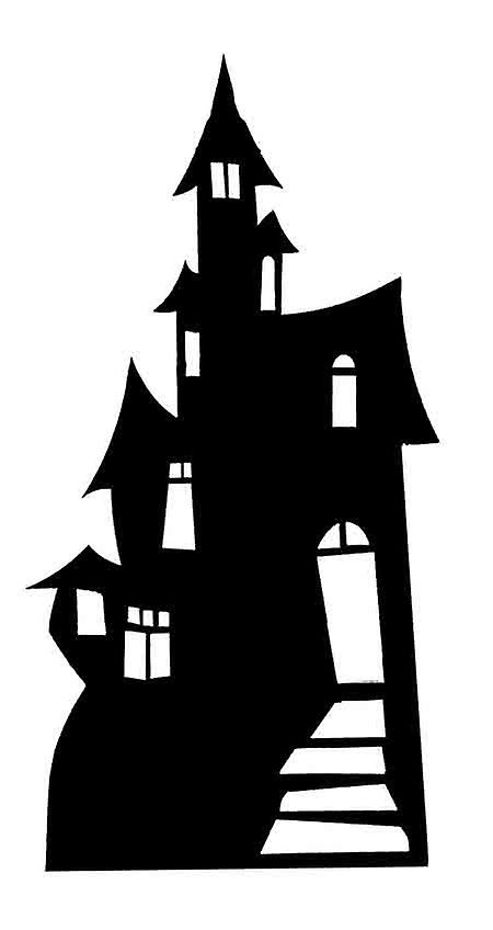 Haunted House (Silhouette) (Halloween) - Lifesize Cardboard Cutout / Standee