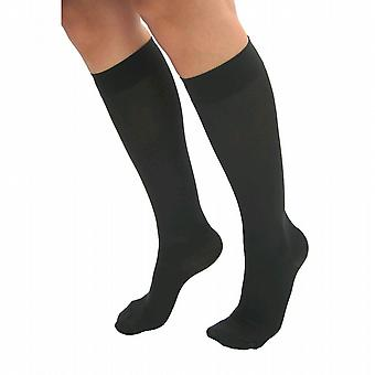 Pebble UK Microfibre Opaque Support Knee Highs [Style P209] Black  XL