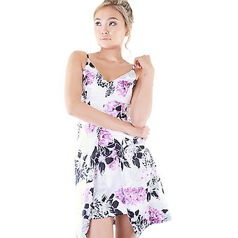 Lovemystyle White Sweetheart Neckline Dress In Floral