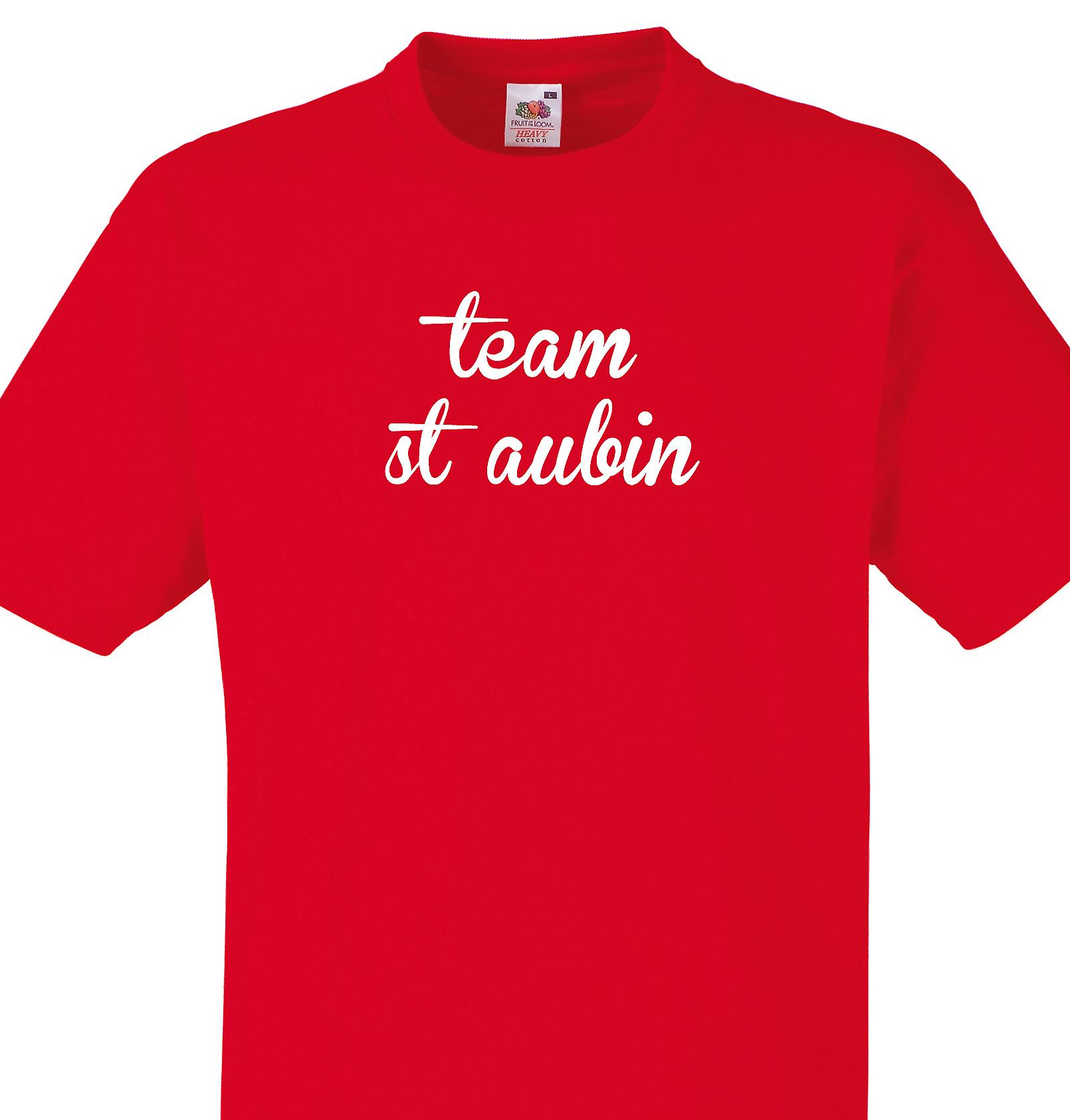 Team St aubin Red T shirt
