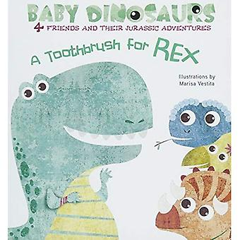 Baby Dinosaurs: A Toothbrush for Rex [Board book]