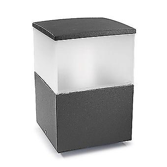 Cubik Small Outdoor Bollard Urban Grey - Leds-C4 10-9386-Z5-M3