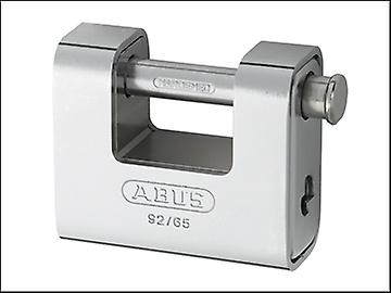 ABUS 92/65 65mm Monoblock Brass Body Shutter Padlock Carded