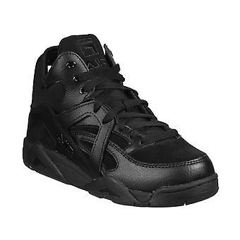Fila Black Leather Hi Top Sneakers