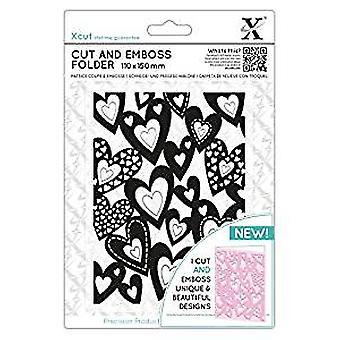 Xcut Cut & Emboss Folder Multi Hearts (XCU 503821)