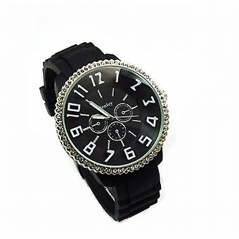 Henley Glamour svart Dial Chrono effekt Sports Watch