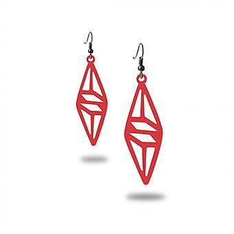 Geometric dangling earrings black silicone