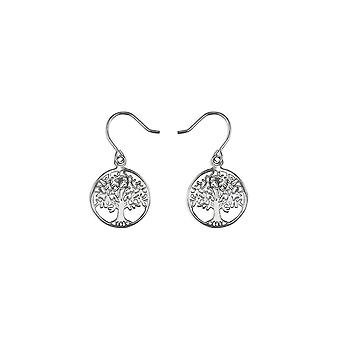 Eternity Sterling Silver Tree Of Life Drop Earrings