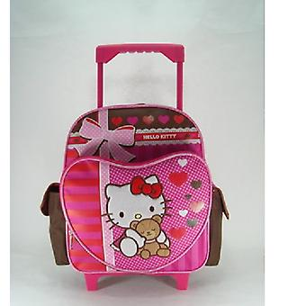 Small Rolling Backpack - Hello Kitty - Super Sweet New Bag Girls Book 630348