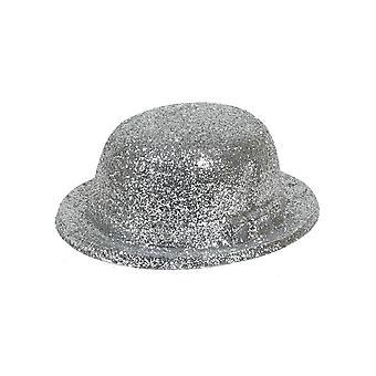 Glitter Bowler lue sølv