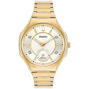 Bulova | Curv | Womens | Gouden Toon armband | 97P136 horloge
