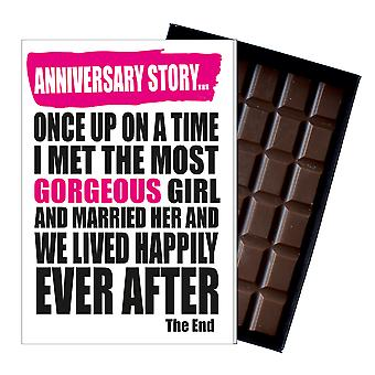 Wedding Anniversary Gift Cute Funy Chocolate Present for Wife or Civil Partner IYF158
