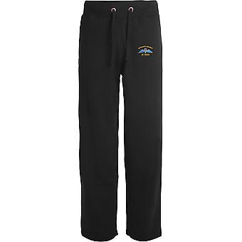 4 PARA 4e Régiment d'ailes de parachutistes - Licensed British Army Embroidered Open Hem Sweatpants / Jogging Bottoms