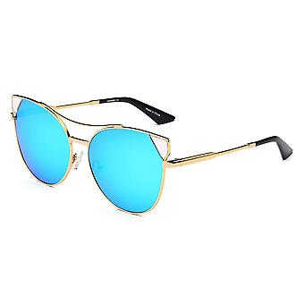 Clarckston | ca02 - women's trendy mirrored lens cat eye sunglasses