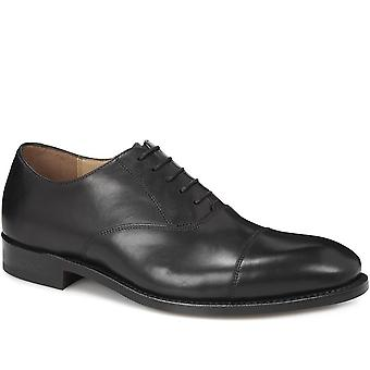 Leather oxford with toe- shoecap