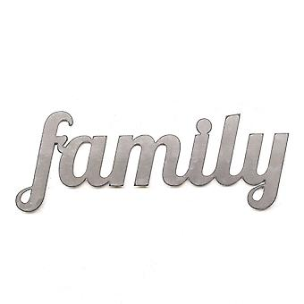 Family - metal cut sign 18x7in