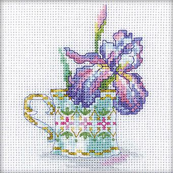 Iris Tea Party Counted Cross Stitch Kit-4.75
