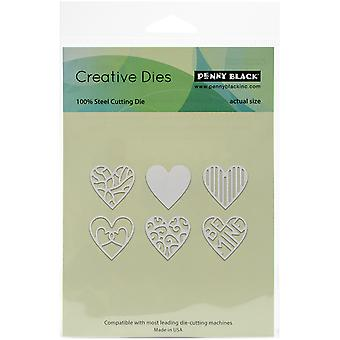 Penny Black Creative Dies-All My Hearts 51180