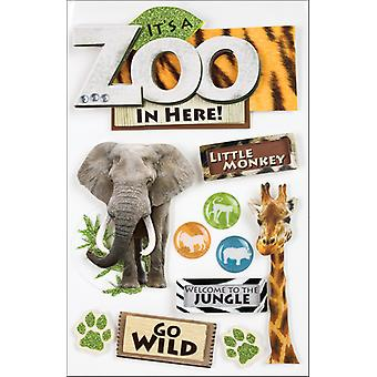 Zoo 3 D Stickers Zoo Stdm0001