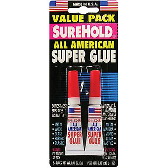 All American Super Glue 3 Grams Each 2 Pkg Sh325