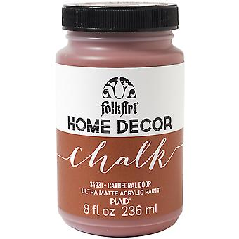 FolkArt Home Decor Chalk Finish Paint 8oz-Cathedral Door