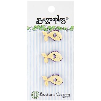 Bazooples Buttons Yellow Fish Bz 116