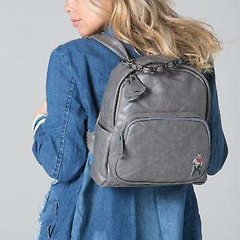 POLAR WHITES GREY QUILTED ZIP BACKPACK o : o