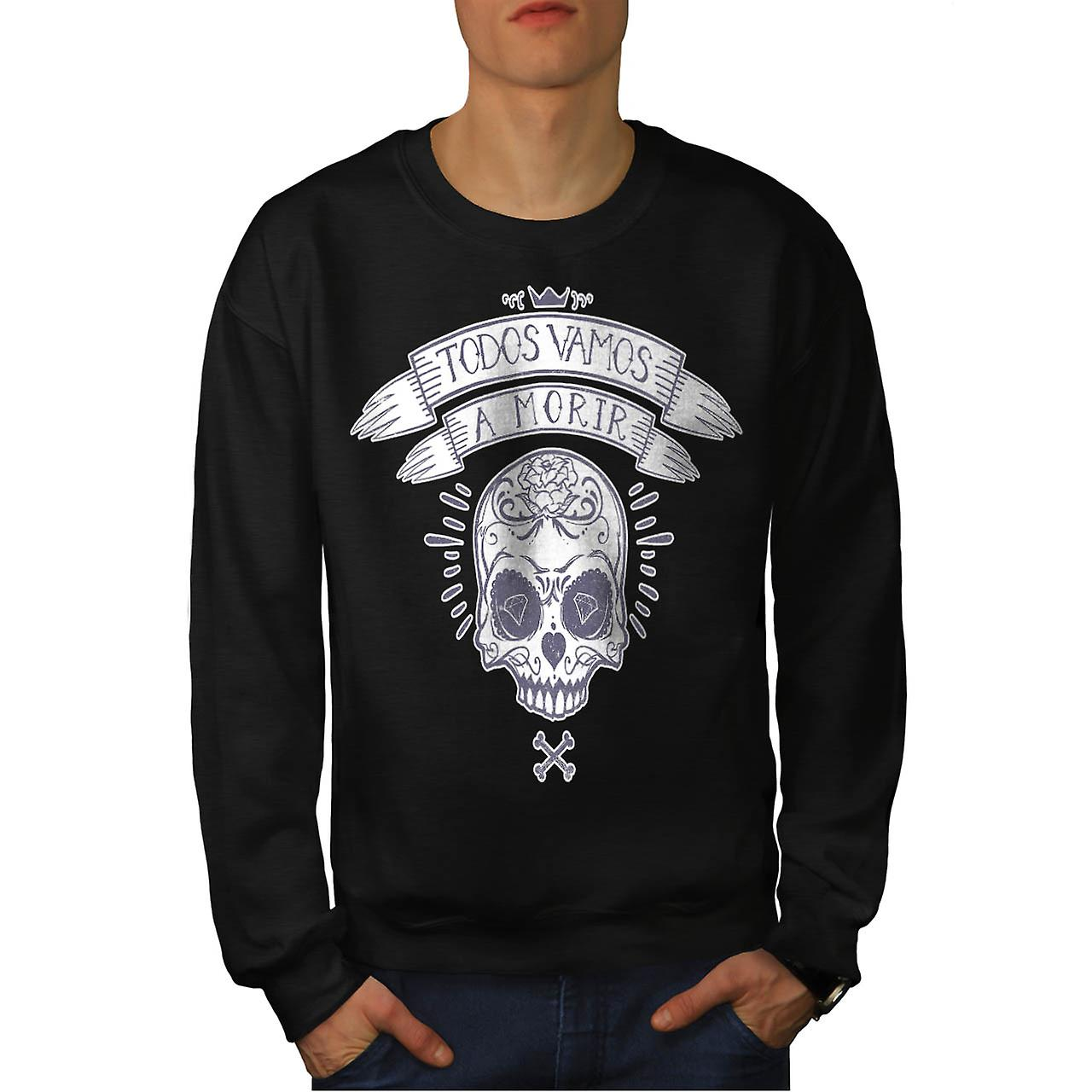 Diamond Skull Bones Monster Dead Men Black Sweatshirt | Wellcoda