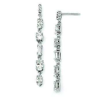 CZ en argent sterling multi-forme Post oreille