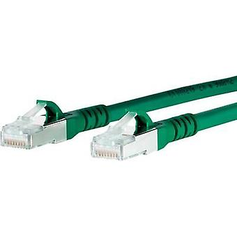 RJ49 Networks Cable CAT 6A S/FTP 1 m Green incl. detent Metz Connect
