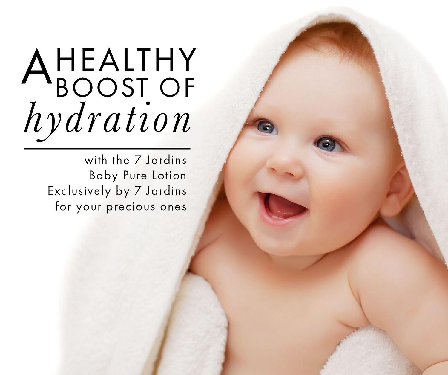 7 Jardins Unscented Natural Baby Pure Lotion - Daily Body Moisturizer for All Skin Types. 100% Safe and Sulfate Free - 8 oz.