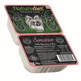 Naturediet følsomme laks & rejer med grøntsager & ris Twin Pack 280g (pakke med 18)